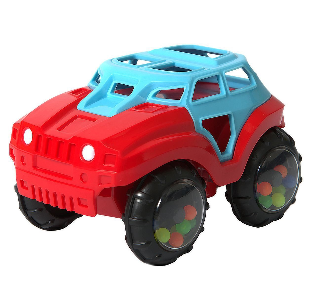 Машинка-неразбивайка, сине-краснаяМашинки для малышей<br>Машинка-неразбивайка, сине-красная<br>