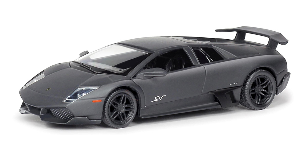 Металлическая инерционная машина RMZ City - Lamborghini Murcielago, 1:32, серый матовыйLamborghini<br>Металлическая инерционная машина RMZ City - Lamborghini Murcielago, 1:32, серый матовый<br>