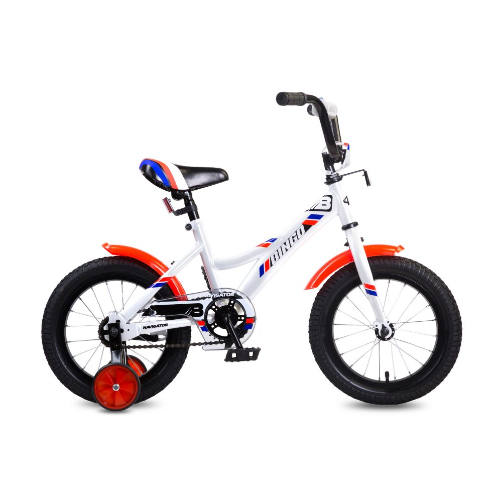 Купить Детский велосипед Navigator Bingo белый, колеса 14 , стальная рама, стальные обода, ножной тормоз