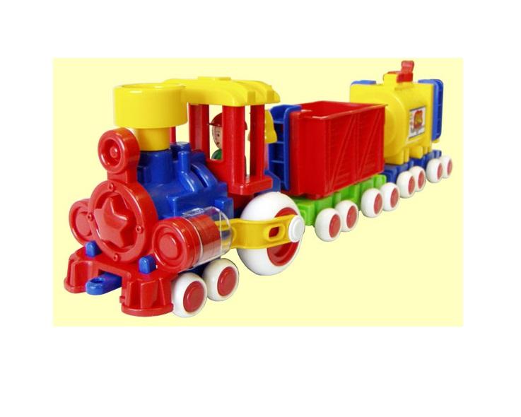Купить Паровозик Ромашка с 2 вагонами из серии Детский сад, 57 см., ПК Форма