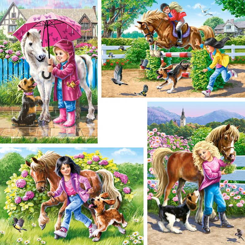Купить Пазл Castorland 30х40х50х60 Девочка и лошадь