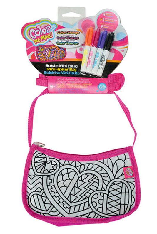 Мини-сумочка с 4 перманентными маркерами, один меняет оттенки цветов - Сумки и рюкзачки Simba Color Me mine, артикул: 102144