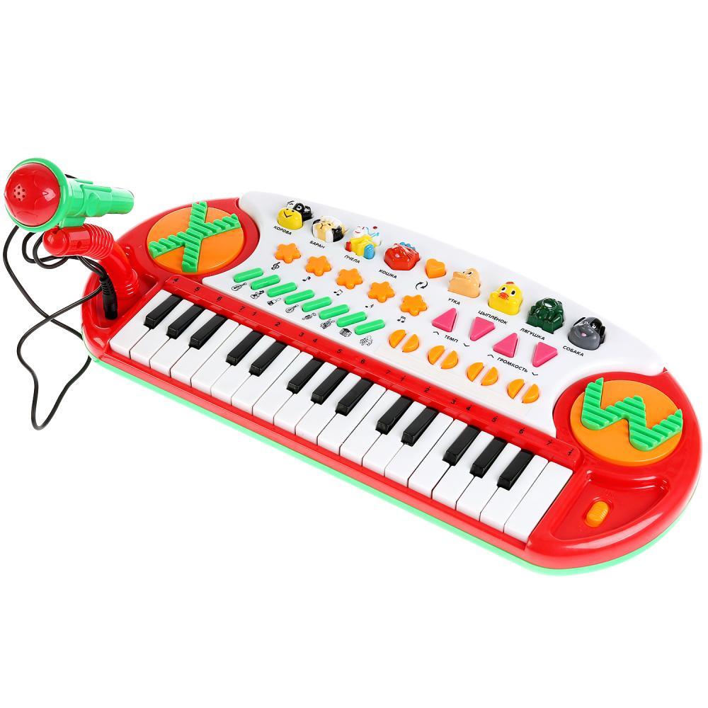 Купить Пианино-караоке, 30 звуков, стихотворений М. Дружининой и потешек, Умка