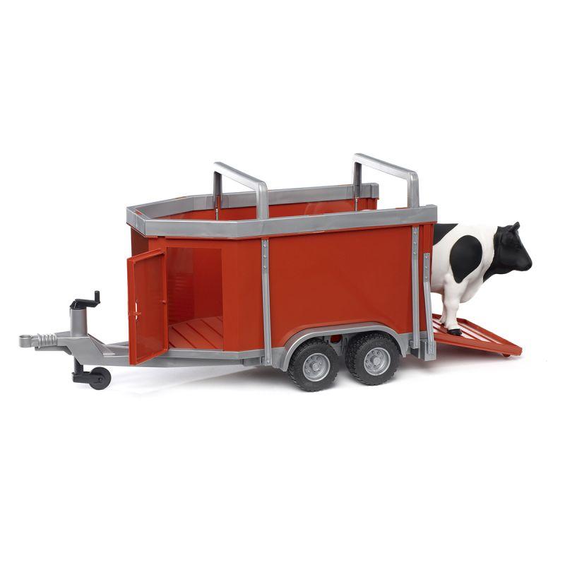 Прицеп для перевозки крупного рогатого скота с коровойИгрушечные тракторы<br>Прицеп для перевозки крупного рогатого скота с коровой<br>