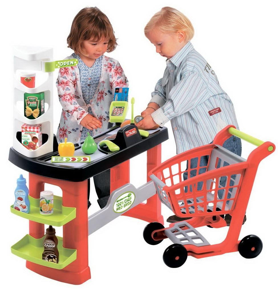 Супермаркет с тележкойДетская игрушка Касса. Магазин. Супермаркет<br>Супермаркет с тележкой<br>
