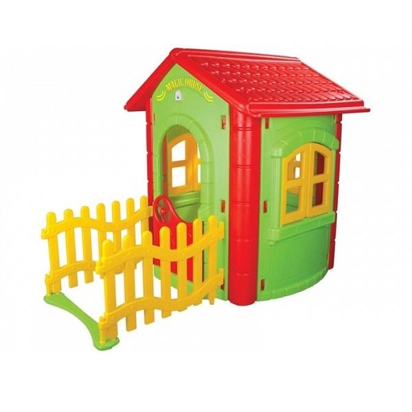 Игровой домик с забором – Magic House - Пластиковые домики для дачи, артикул: 160322