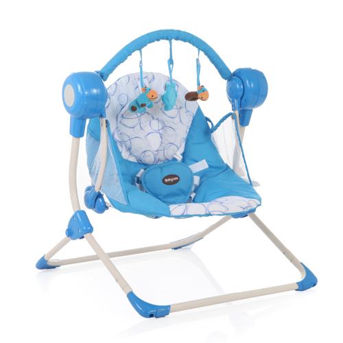 Кресло-качели Baby Care Balancelle с пультом ДУ, blue от Toyway