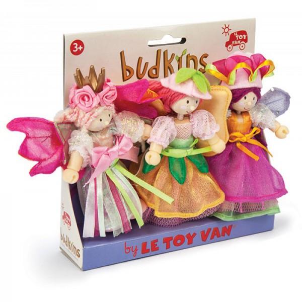 Набор деревянных кукол - Феи сада