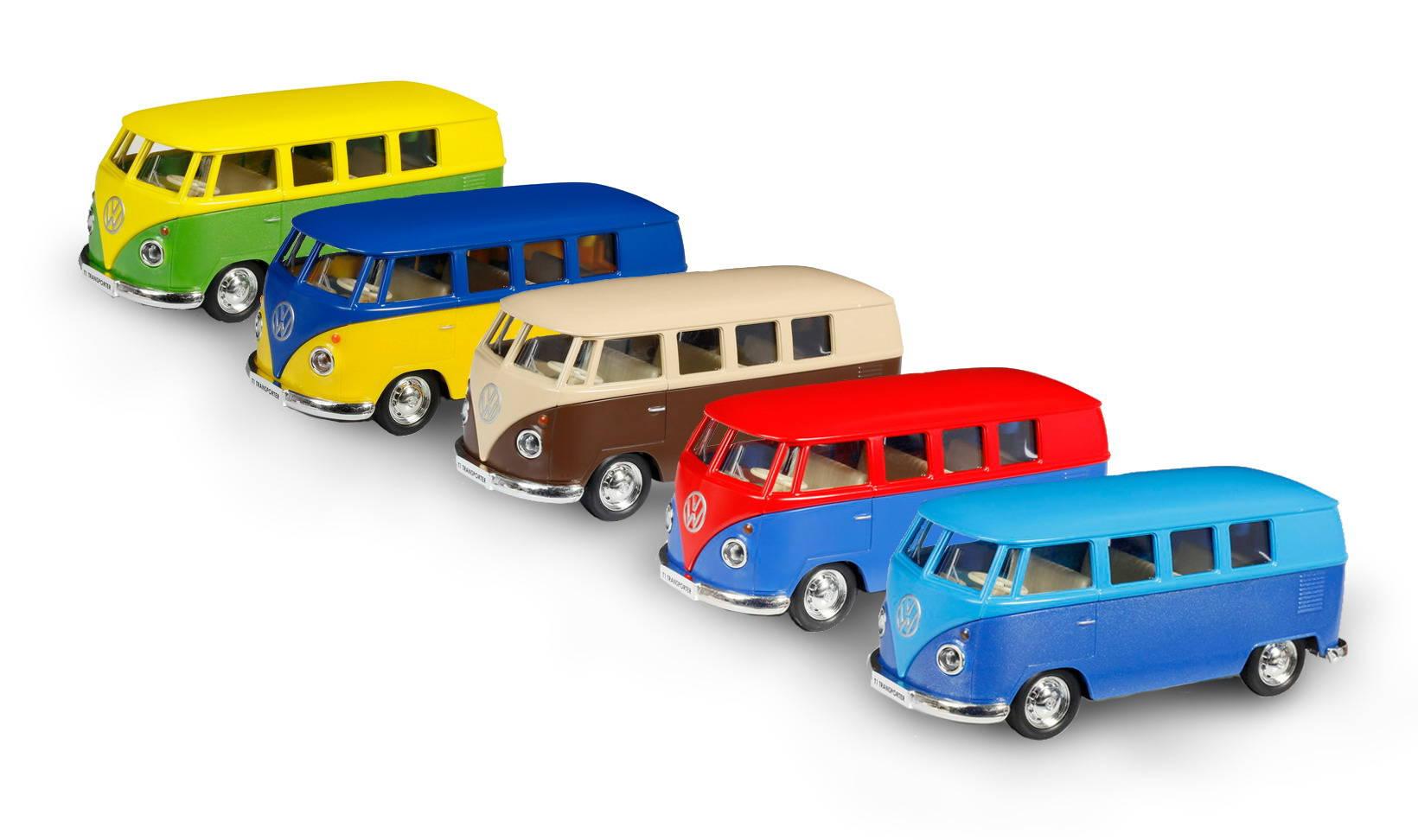 Металлический инерционный автобус RMZ City - Volkswagen Type 2 T1, 1:32, 5 цветовVolkswagen<br>Металлический инерционный автобус RMZ City - Volkswagen Type 2 T1, 1:32, 5 цветов<br>