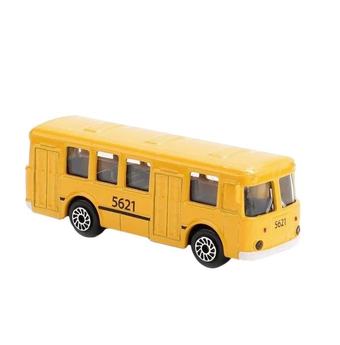 Купить Металлический рейсовый автобус, 7, 5 см, Технопарк