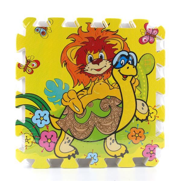 Коврик-пазл «Львенок и черепаха», 8 сегментовКоврики-пазлы<br>Коврик-пазл «Львенок и черепаха», 8 сегментов<br>