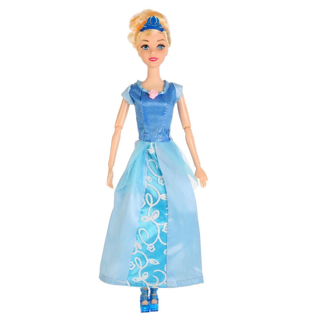 Купить Кукла София принцесса в голубом платье 29 см., с аксессуарами, Карапуз