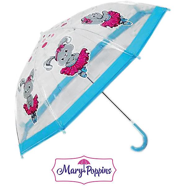 Зонт детский прозрачный - Зайка танцует, 46 см.Детские зонты<br>Зонт детский прозрачный - Зайка танцует, 46 см.<br>