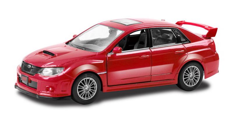 Купить Металлическая инерционная машина - Subaru WRX STI, 1:32, красный, RMZ City