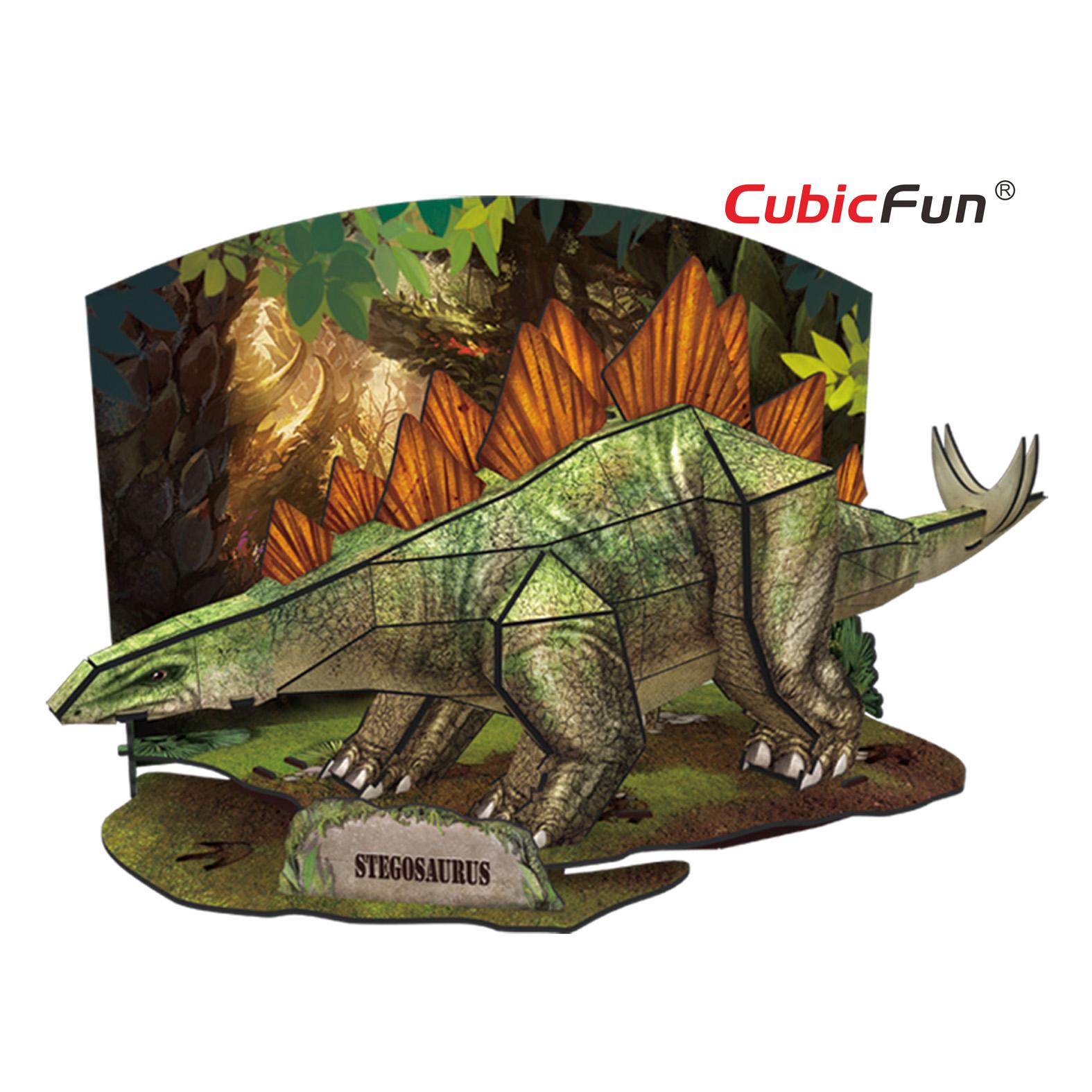 Купить Объемный 3D-пазл из серии Эра Динозавров - Стегозавр, Cubic Fun