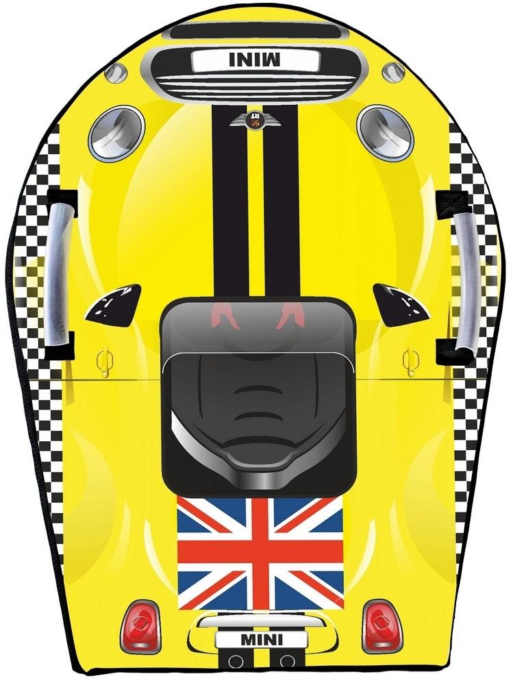 Ледянка Snow auto Mini Cooper, цвет желтый - Зимние товары, артикул: 148483