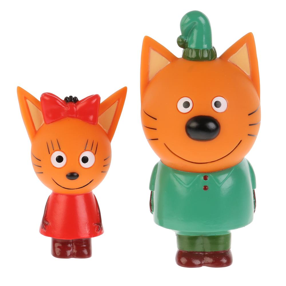 Купить Игрушка из пластизоля для ванны из серии Три кота – Карамелька и Компот, в сетке ), Играем вместе