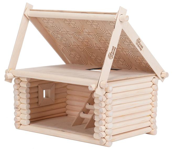 Деревянный конструктор – Кукольный домикДеревянный конструктор<br>Деревянный конструктор – Кукольный домик<br>