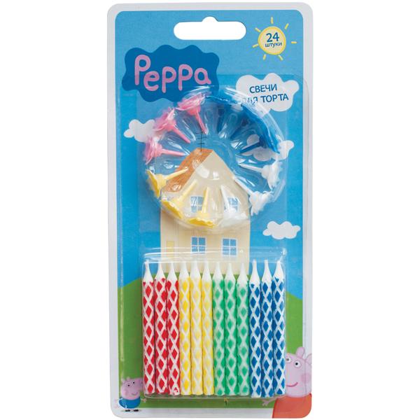 Купить Набор свечей с держателем, Peppa Pig, Росмэн