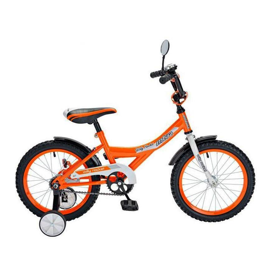 Двухколесный велосипед Wily Rocket, диаметр колес 12 дюймов, оранжевый фото