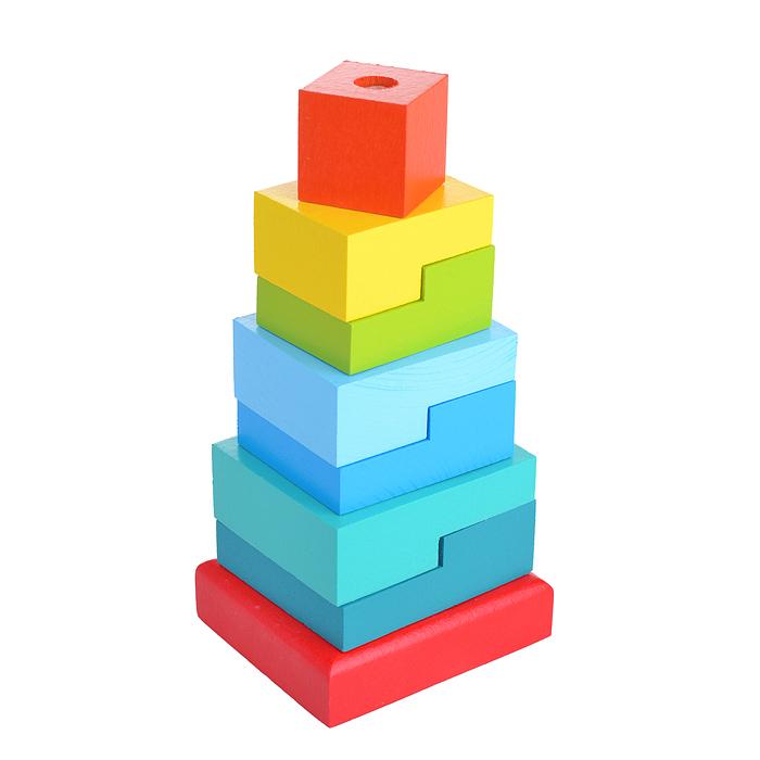 Пирамидка - Ступеньки, 8 деталейСортеры, пирамидки<br>Пирамидка - Ступеньки, 8 деталей<br>
