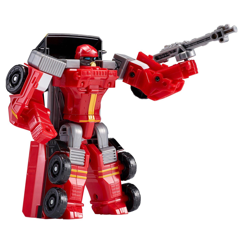 Купить Тобот мини Атлон Вулкан S2, трансформируется в пожарную машинку, YOUNG TOYS