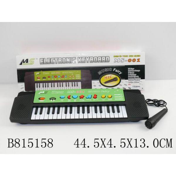 Синтезатор на батарейках с микрофоном MS001 фото