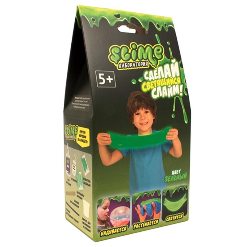 Купить Набор для мальчиков малый Slime Лаборатория, зеленый, 100 г, Волшебный мир