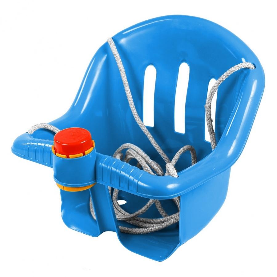 Качели с барьером безопасности и клаксоном, синие - Качели, артикул: 158273