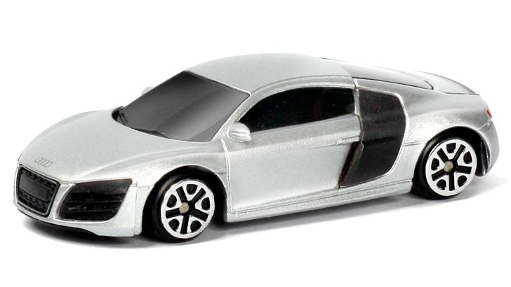 Купить Металлическая машина - Audi R8 V10, 1:64, серебристый, RMZ City