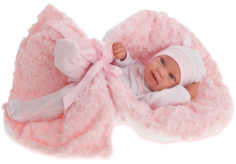 Кукла-младенец Эдуарда в розовом, 42 см.Куклы Антонио Хуан (Antonio Juan Munecas)<br>Кукла-младенец Эдуарда в розовом, 42 см.<br>