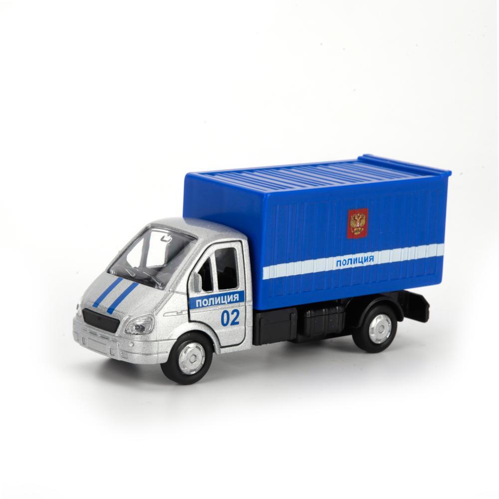 Купить Металлическая инерционная машина – Газель, Полиция, 12 см, Технопарк