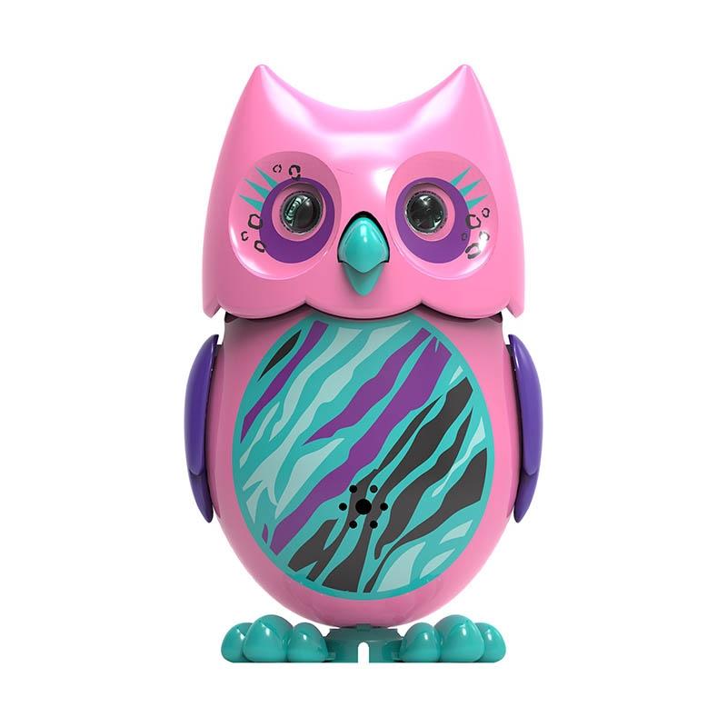 Сова с кольцом, розовая с фиолетовыми крыльямиИнтерактивные птички DigiBirds<br>Сова с кольцом, розовая с фиолетовыми крыльями<br>