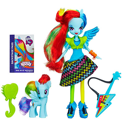Кукла My Little Pony Equestria Girls с пони в наборе - Rainbow Dash
