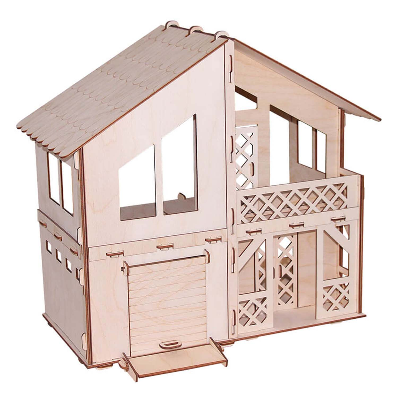 Кукольный домик из серии Я дизайнер - Дачный домик с гаражом, конструктор фото