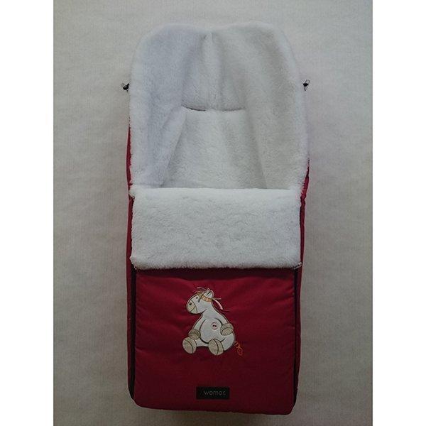 Спальный мешок в коляску №3  Sleepy Bear, красный - Прогулки и путешествия, артикул: 171065