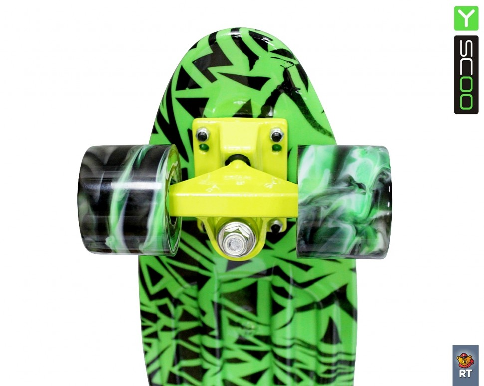 Скейтборд 12-13 Penny board RT 22 Print Green Elka, green/mix