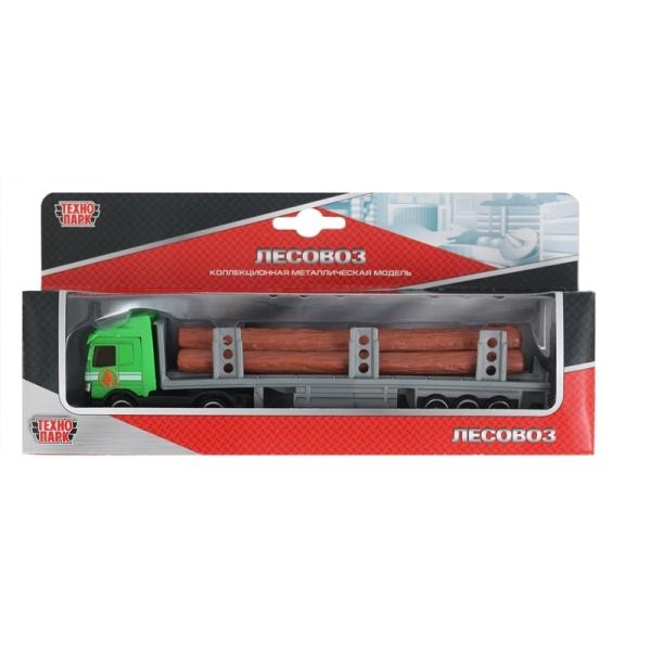 Металлическая машинка - Лесовоз, 15 смТрейлеры<br>Металлическая машинка - Лесовоз, 15 см<br>