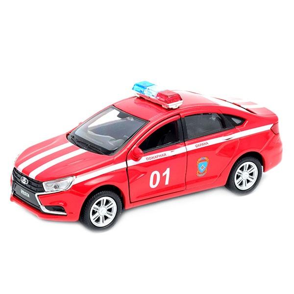 Купить Коллекционная модель машины Lada Vesta - Пожарная охрана, Welly