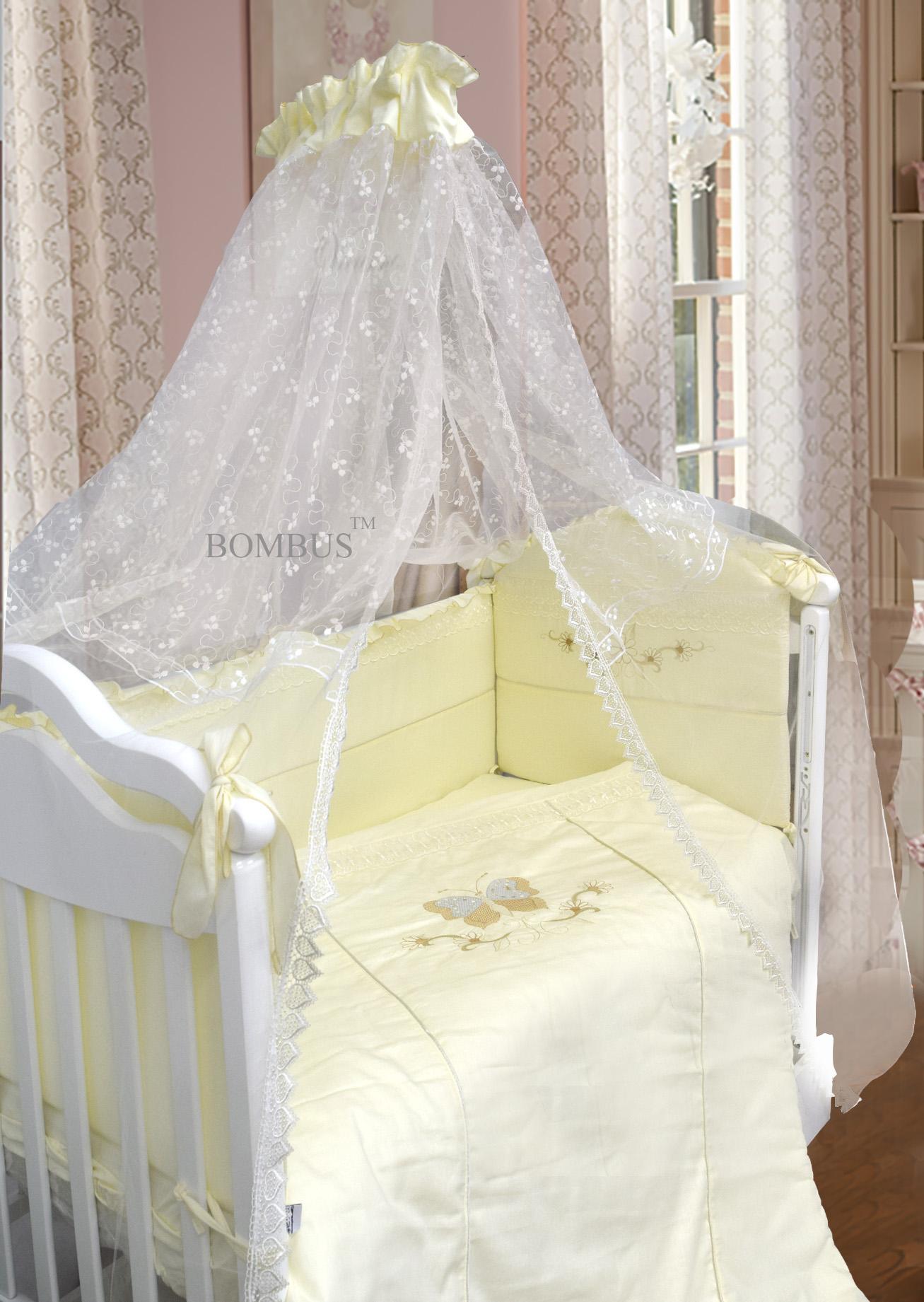 Комплект в кроватку - Абэль, сатин, 7 предметов, бежевыйДетское постельное белье<br>Комплект в кроватку - Абэль, сатин, 7 предметов, бежевый<br>