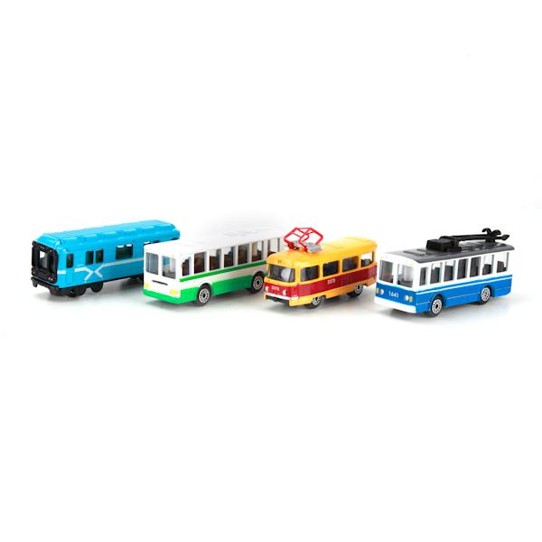 Набор из 2-х металлических моделей - Городской транспорт, 7,5 смГородская техника<br>Набор из 2-х металлических моделей - Городской транспорт, 7,5 см<br>