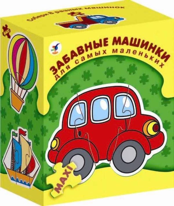 Игра настольная из серии «Для самых маленьких» - Забавные машинкиПазлы для малышей<br>Игра настольная из серии «Для самых маленьких» - Забавные машинки<br>