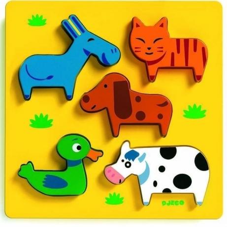 Купить Пазл-Сортировка Домашние животные, Djeco