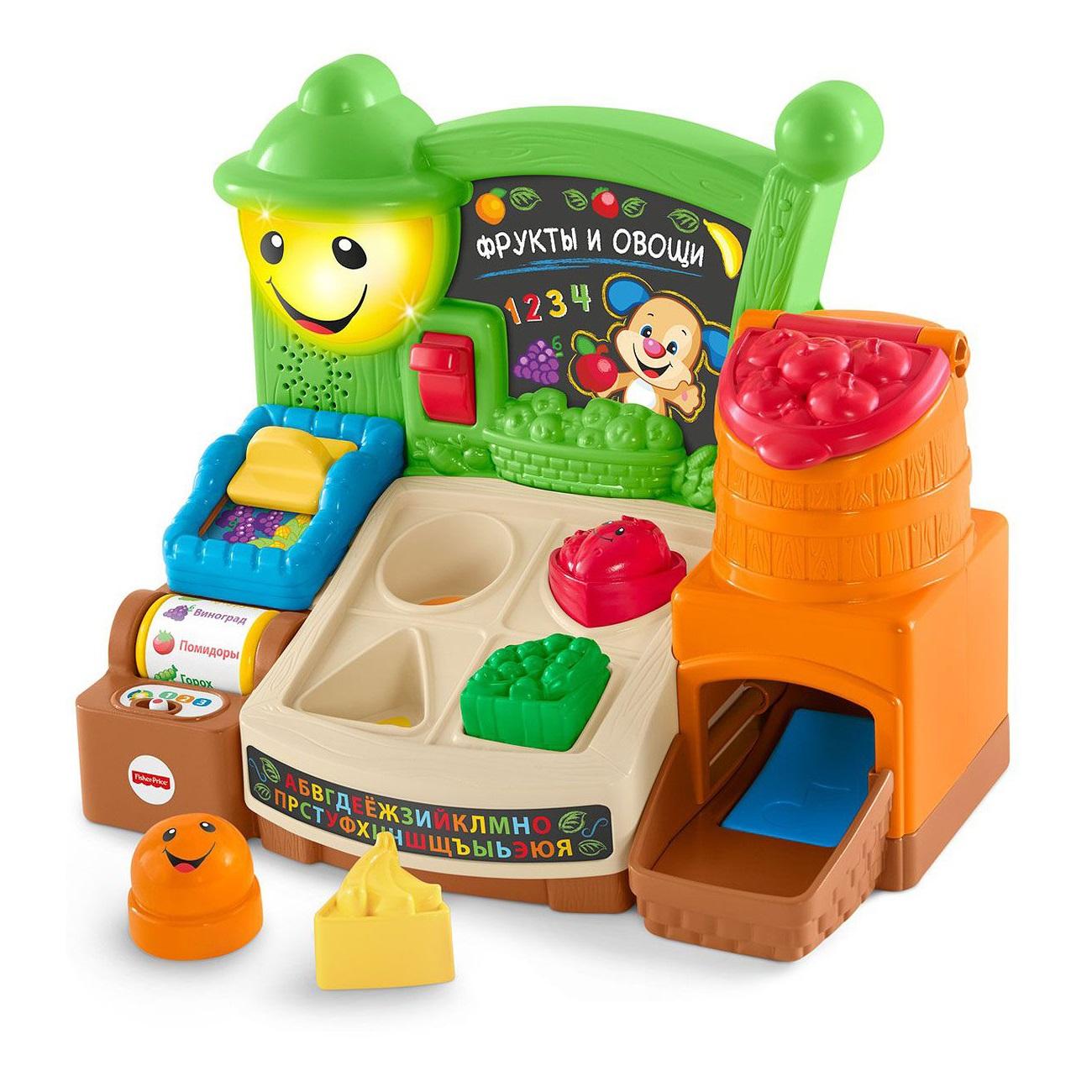 Обучающая игрушка - Прилавок с фруктами и овощамиСортеры, пирамидки<br>Обучающая игрушка - Прилавок с фруктами и овощами<br>