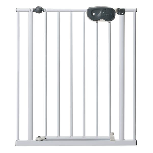 Защитный металлический барьер-калитка для дверного/лестничного проема, 73-81 см., размер SБезопасность ребенка<br>Защитный металлический барьер-калитка для дверного/лестничного проема, 73-81 см., размер S<br>