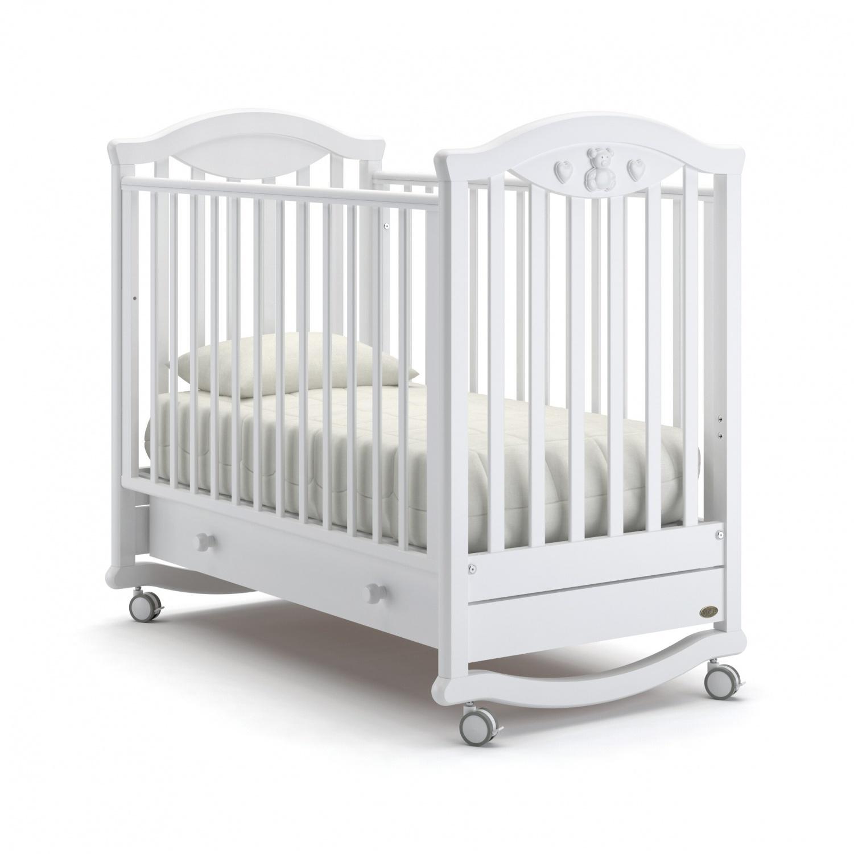 Купить Детская кровать Nuovita Lusso dondolo, bianco/белый
