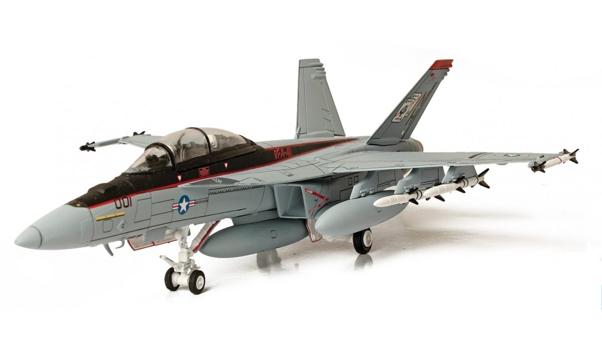 Коллекционная модель - американский истребитель F/A-18F Super Hornet, Нил, 1:32 от Toyway