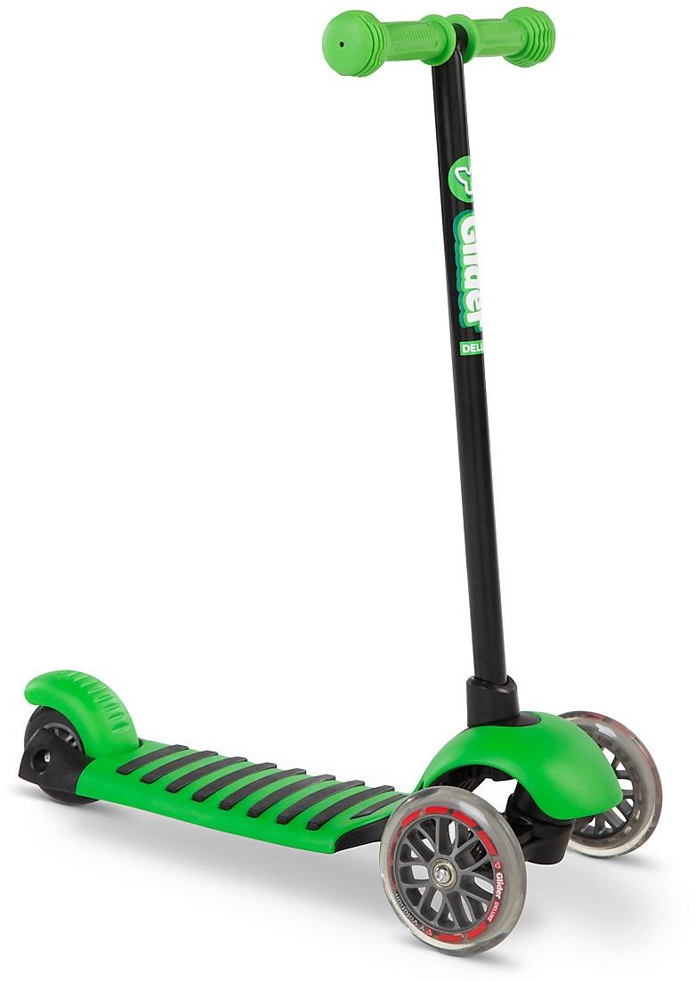 Самокат YVolution Glider Deluxe, цвет – зеленый