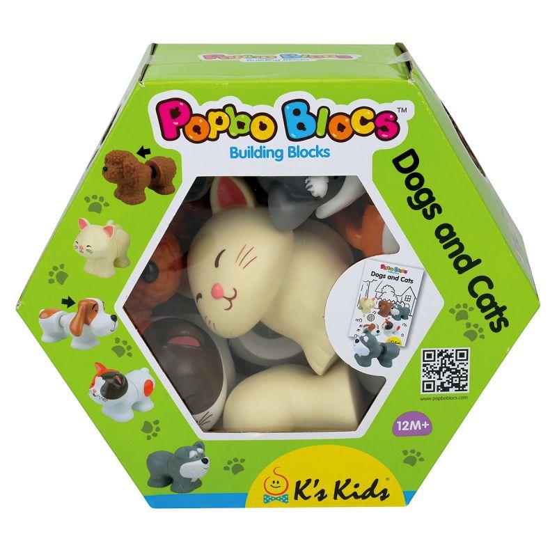 Мягкий конструктор - Котики и щенятаРазвивающие игрушки K-Magic от KS Kids<br>Мягкий конструктор - Котики и щенята<br>