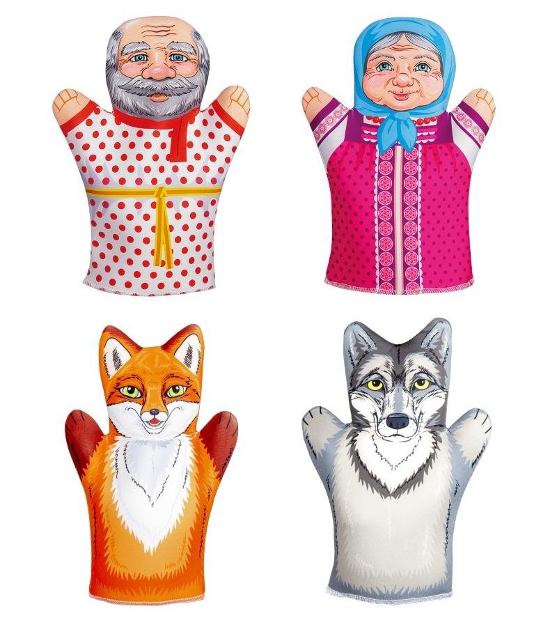 Купить Кукольный театр, домашний – Битый небитого везет, 4 куклы-перчатки, Десятое королевство